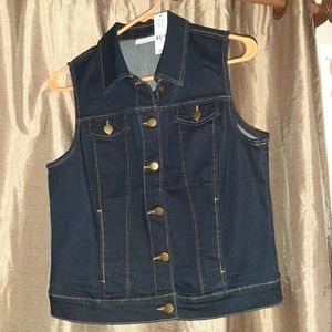 Dark blue denim vest NWT